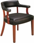 Quick Ship Traditional Series Captain's Arm Chair [4013-FS-HPF]