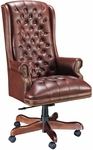 Quick Ship Traditional Series Tufted Extra High Back Executive Swivel Chair [4277-FS-HPF]