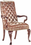 Quick Ship Traditional Series Tufted Goose Neck Arm Chair [4053-FS-HPF]