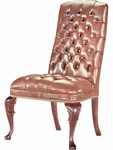 Quick Ship Traditional Series Tufted Goose Neck Armless Chair [4054-FS-HPF]