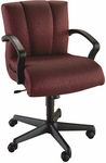 Quick Ship Trifecta Management Swivel Chair with Black Urethane Arms [1667-FS-HPF]