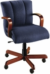 Quick Ship Trifecta Management Swivel Chair with Wood Arms [1627-FS-HPF]