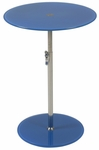 Radinka Side Table in Blue Printed Glass [21194-FS-ERS]