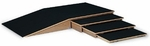 Wooden small Ramp and Curb Set - 44''W X 88''L X 8''H [HAU-1200-FS-HAUS]