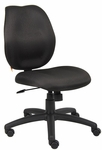 Ratchet Back Molded Foam Armless Task Chair - Black [B1016-BK-FS-BOSS]