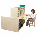 Read-n-Write Station with Chalkboard on One Side and Desk on Other - 48''W x 47''D x 41''H [31100-WDD]