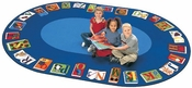 Reading By The Book ABC Circular Seating Oval Nylon Rug - 81''W x 113''D