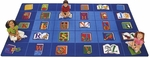 Reading By The Book ABC Rectangular Seating Rectangular Nylon Rug - 70''W x 100''D [2600-FS-CAP]