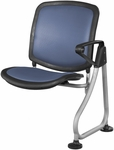 Ready Link Row Add-On Chair - Blue [K211-BLUE-SLV-MFO]