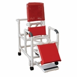 Reclining Shower Chair with Elevated Leg Rest and Casters [196-MJM]