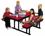 Customizable Children's Rectangle Lunchroom Table - 54''W x 48''D x 23''H [CNB-2448-BKS]