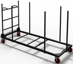 73.75'' W x 33'' D x 45.25'' H Rectangular Table Cart for 30'' D Tables - Black [7730WCB-FS-MAY]