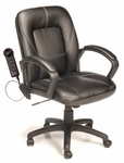 Relaxzen Mid-Back Chair with 3-Motor Massage - Black [60-6212-FS-COM]