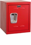 Relay Red Kids Mini Locker Unassembled - 15''W x 15''D x 24''H [HKL1515-24-1RR-HAL]