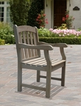 Renaissance Outdoor Arm Chair with Arched Full Vertical Slat Back and Slat Seat [V1295-FS-VIF]