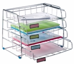 ALBA'S Resistant Five Letter Sized Sliding Front Loading Tray - Chrome [COR4I-FS-ABA]