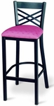 Restaurant Collection Casual Dining Counter Height Stool with Dome Seat - Lattice Back [6200-MPL]