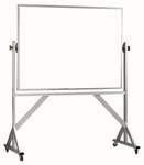 Reversible Free Standing White Porcelain Marker Board with Aluminum Frame - 48''H x 72''W [WARS4872-AA]