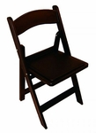 Revolution Series 31''H Resin Folding Chair with .5'' Thick Vinyl Seat Pad - Black [143002-MES]