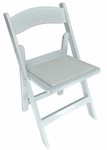 Revolution Series 31''H Resin Folding Chair with .5'' Thick Vinyl Seat Pad - White [143001-MES]