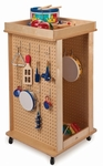 Revolving Dress Up Center with Shatter-Proof Acrylic Mirror [WB1038-FS-WBR]