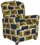 Kids Recliner with Button Tufted Back - Rex Stellar Blue [400-REX-STELLAR-BLUE-FS-BZ]