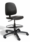 Rhino Intensive Use Medium Back Mid-Height Drafting Chair - 3 Way Control - Black [RHMM3-FS-CRA]