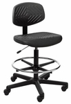 Rhino Intensive Use Small Back Mid-Height Drafting Chair - 3 Way Control - Black [RHSM3-FS-CRA]