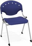 Rico 300lb. Capacity Stack Chair with 17.75'' Seat Height - Navy [305-P46-MFO]