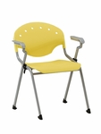 Rico 300lb. Capacity Stack Chair with Arms and 17.50'' Seat Height - Lemon Yellow [306-P23-MFO]