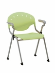 Rico 300lb. Capacity Stack Chair with Arms and 17.50'' Seat Height - Lime Green [306-P52-MFO]