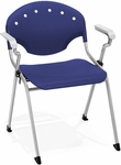 Rico 300lb. Capacity Stack Chair with Arms and 17.50'' Seat Height - Navy [306-P46-MFO]