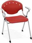 Rico 300lb. Capacity Stack Chair with Arms and 17.50'' Seat Height - Red [306-P1-MFO]