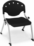 Rico 300lb. Capacity Student Stack Chair with 12'' Seat Height - Black [305-12-P0-MFO]