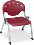 Rico 300lb. Capacity Student Stack Chair with 12'' Seat Height - Burgundy [305-12-P17-MFO]