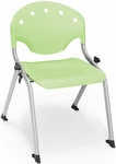 Rico 300lb. Capacity Student Stack Chair with 14'' Seat Height - Lime Green [305-14-P52-MFO]