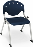 Rico 300lb. Capacity Student Stack Chair with 14'' Seat Height - Navy [305-14-P46-MFO]