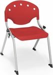 Rico 300lb. Capacity Student Stack Chair with 14'' Seat Height - Red [305-14-P1-MFO]