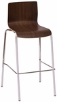 Rita Barstool - Walnut Laminate Seat and Chrome Frame [JA601BS-WA-BFMS]
