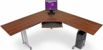 L-Shaped 72'' x 72'' Workstation with 24'' D Top - Cherry [55177-CHY-FS-MFO]