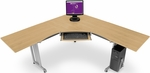 L-Shaped 72'' x 72'' Workstation with 24'' D Top - Maple [55177-MPL-FS-MFO]