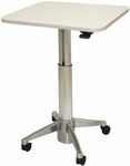 Runner Sit to Stand 26.5''H to 44.5''H Adjustable Small Table - Cloud [RNR-4-0141-FS-WOR]