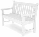POLYWOOD® Rockford 48'' Bench - White [RKB48WH-FS-PD]