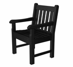 POLYWOOD® Rockford Collection Arm Chair - Black [RKB24BL-FS-PD]