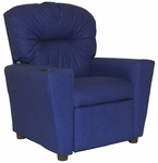 Kids Home Theatre Recliner with Cupholder - Rodeo Blue [401C-RODEO-BLUE-FS-BZ]