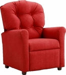 Kids Recliner with Button Tufted Back - Rodeo Chili [400-RODEO-CHILI-FS-BZ]