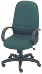 Rodeo High-Back Chair with Manual Control with Loop Arms - Black Base [E-63181-FS-EOF]