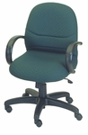 Rodeo Mid-Back Chair with Manual Control with Loop Arms - Black Base [E-63151-FS-EOF]