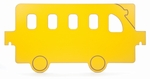 Yellow Melamine Room Divider Bus Panel [WB1122-FS-WBR]
