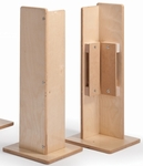 Birch Laminate Room Divider Corner Post [WB1117-FS-WBR]